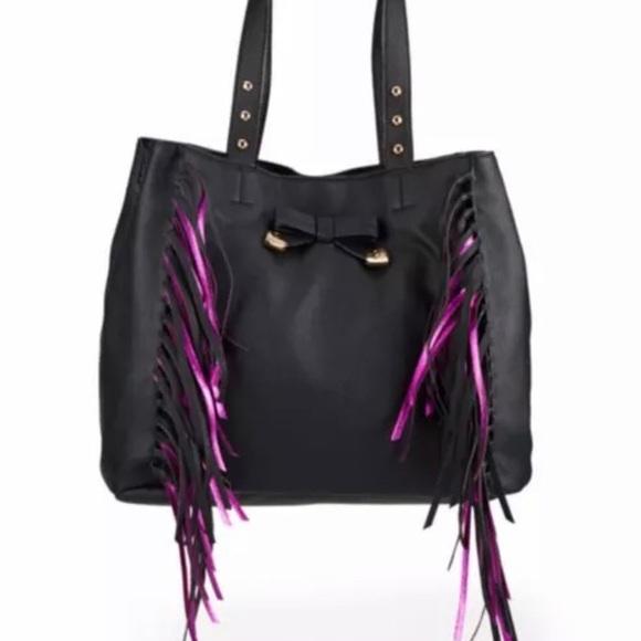 Betsey Johnson Handbags - BETSEY JOHNSON VEGAN FRINGED TOTE BAG,